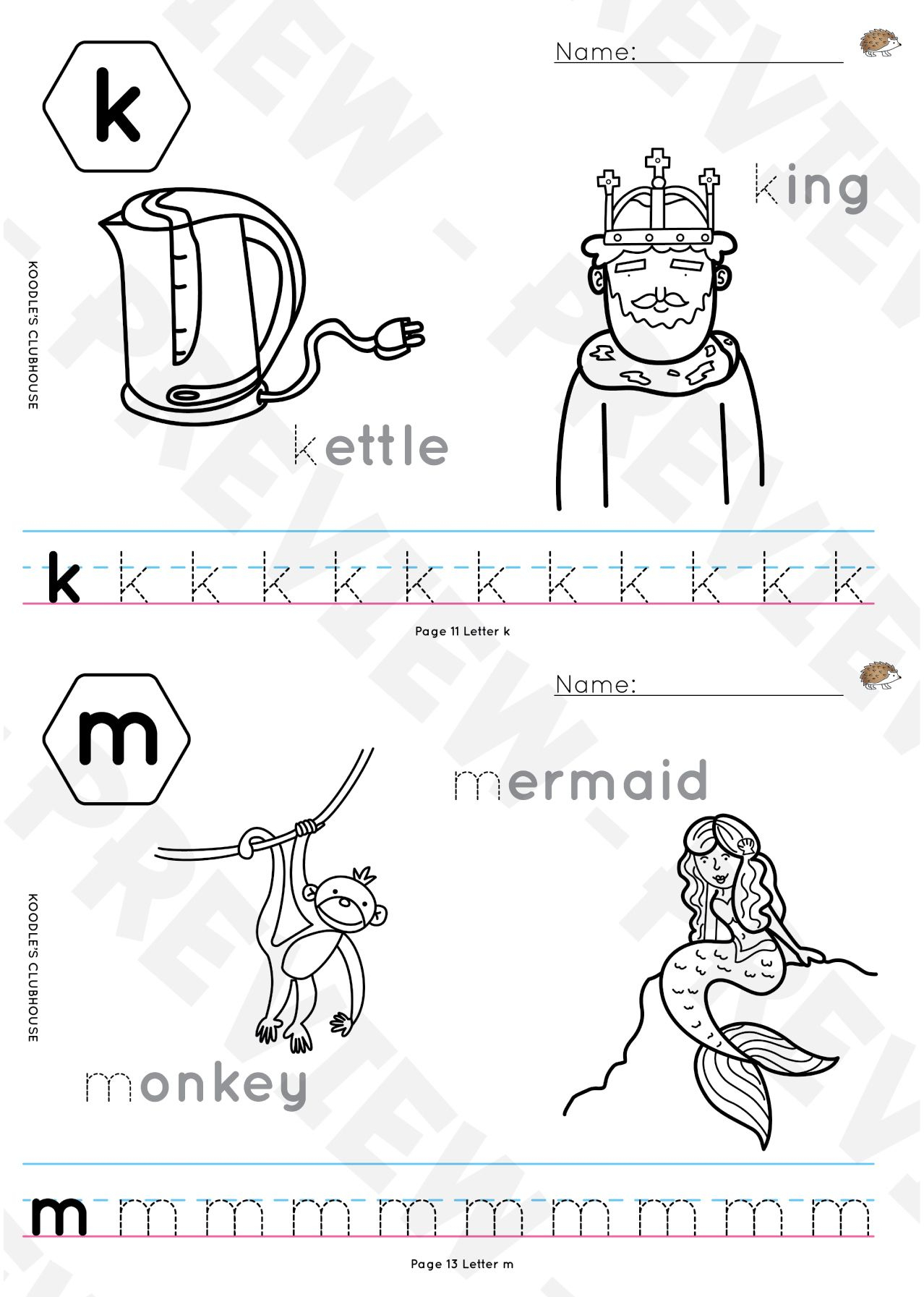A Z Name Tracing