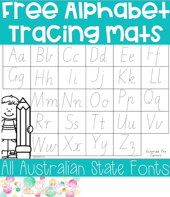 Alphabet Tracing Mat