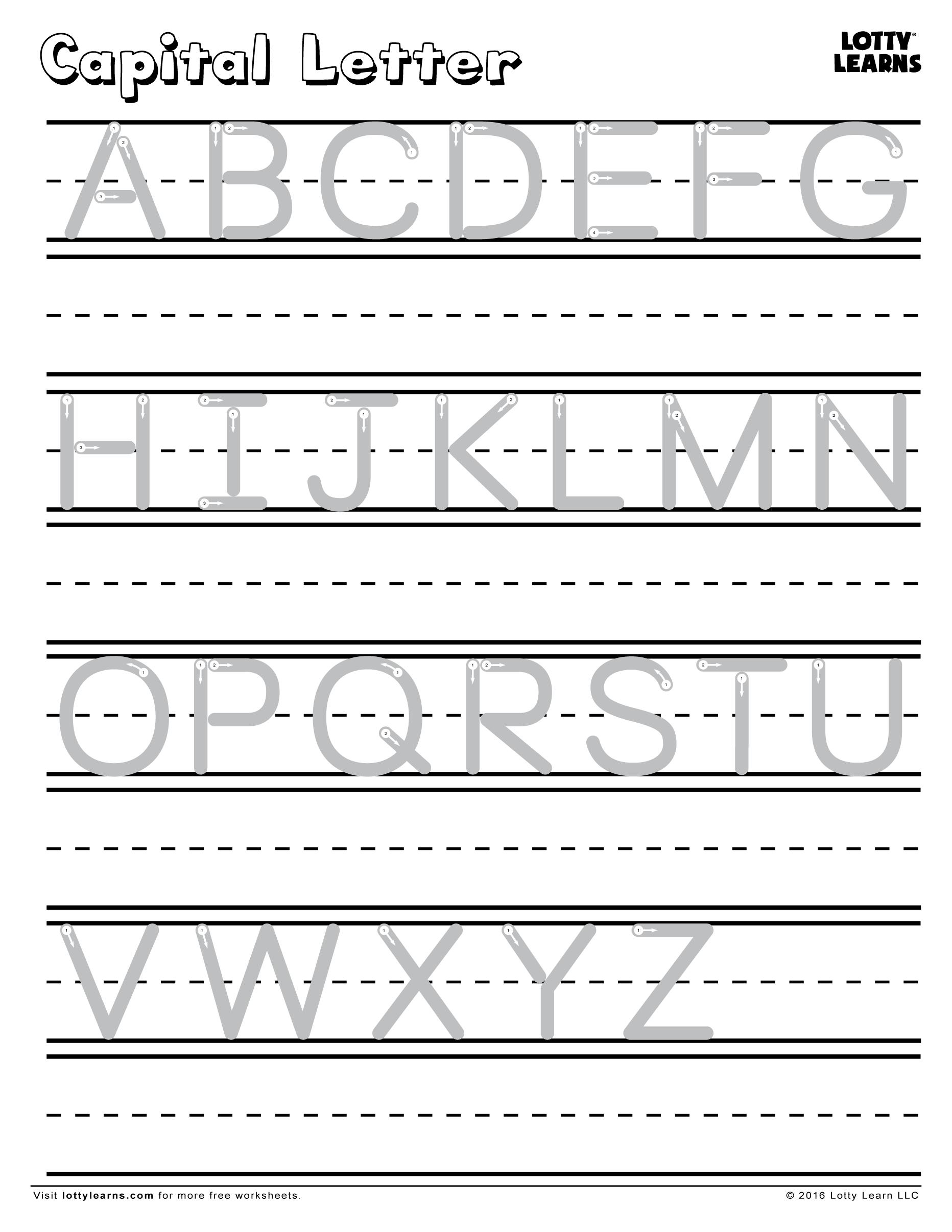Alphabet Worksheets A Z