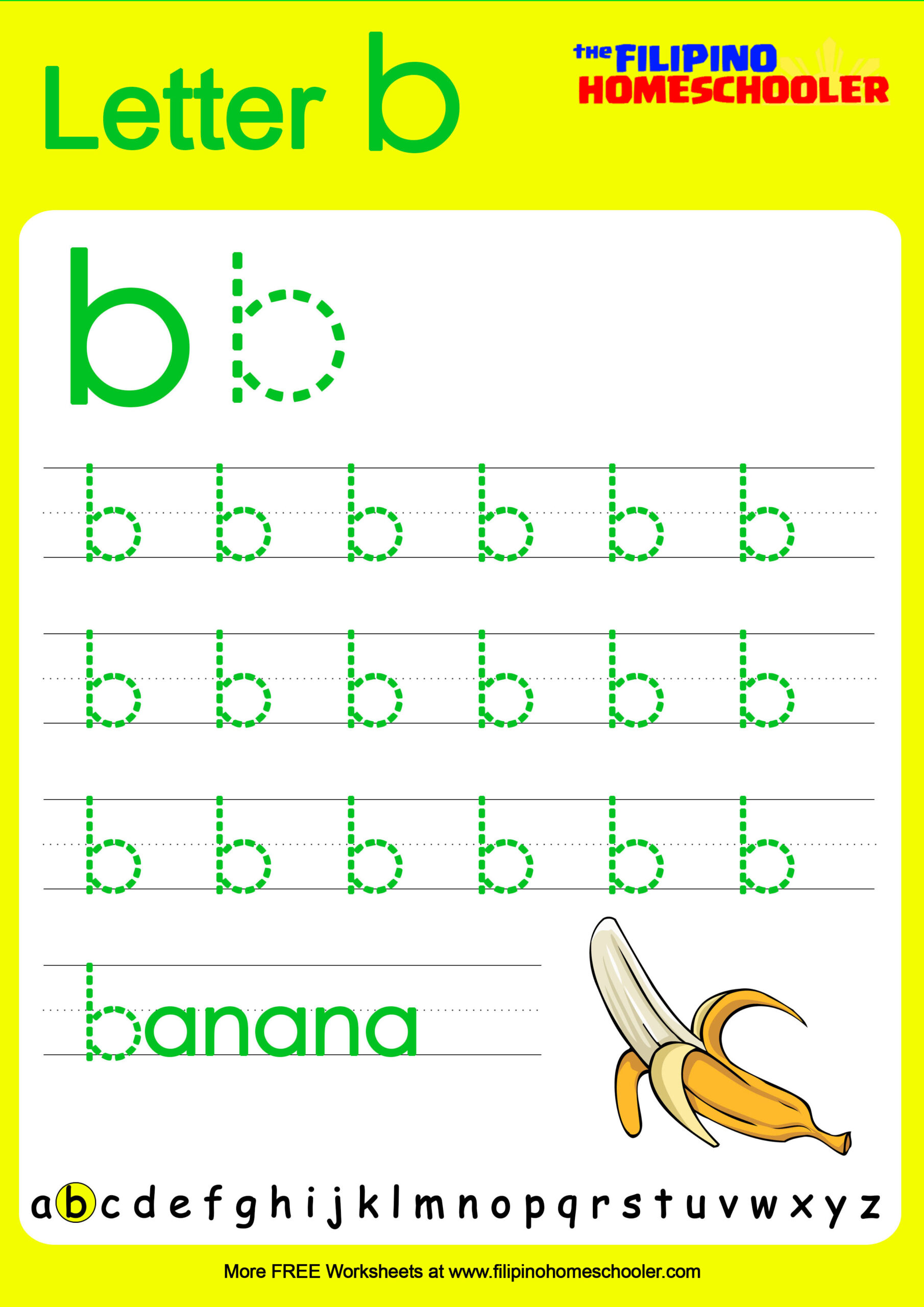 Alphabet Tracing Worksheets Lowercase