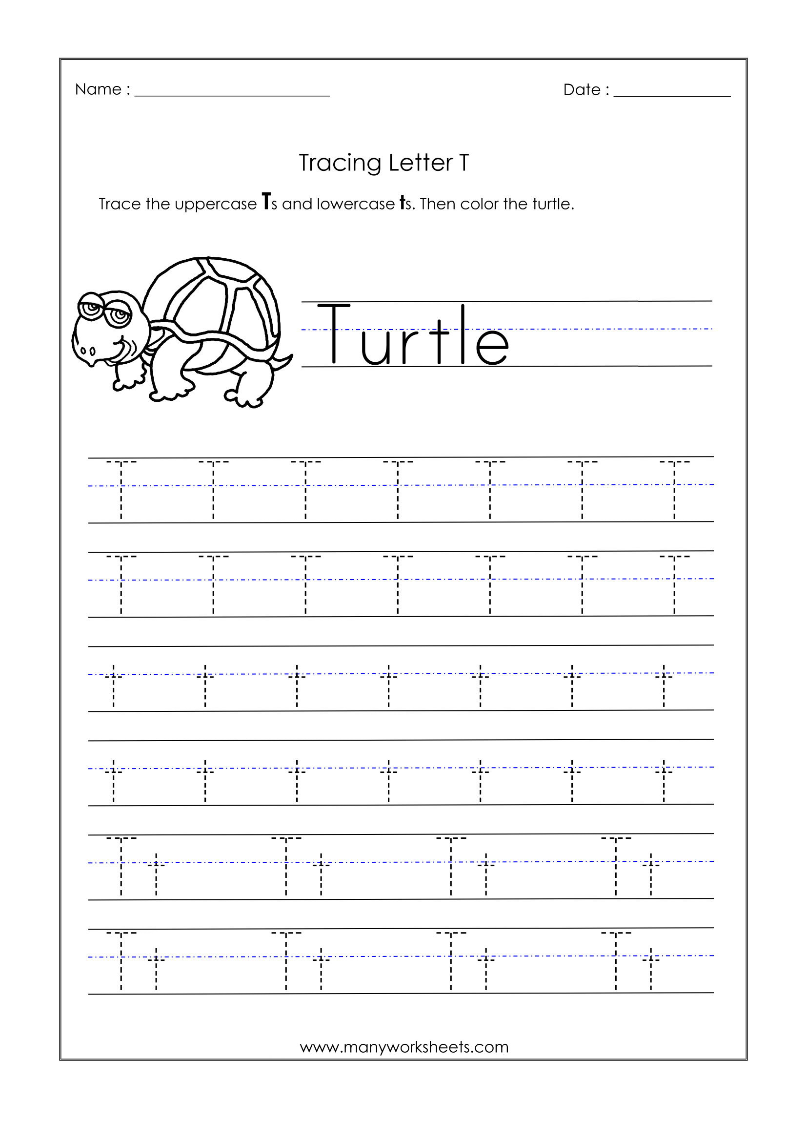 Letter T Worksheets Free