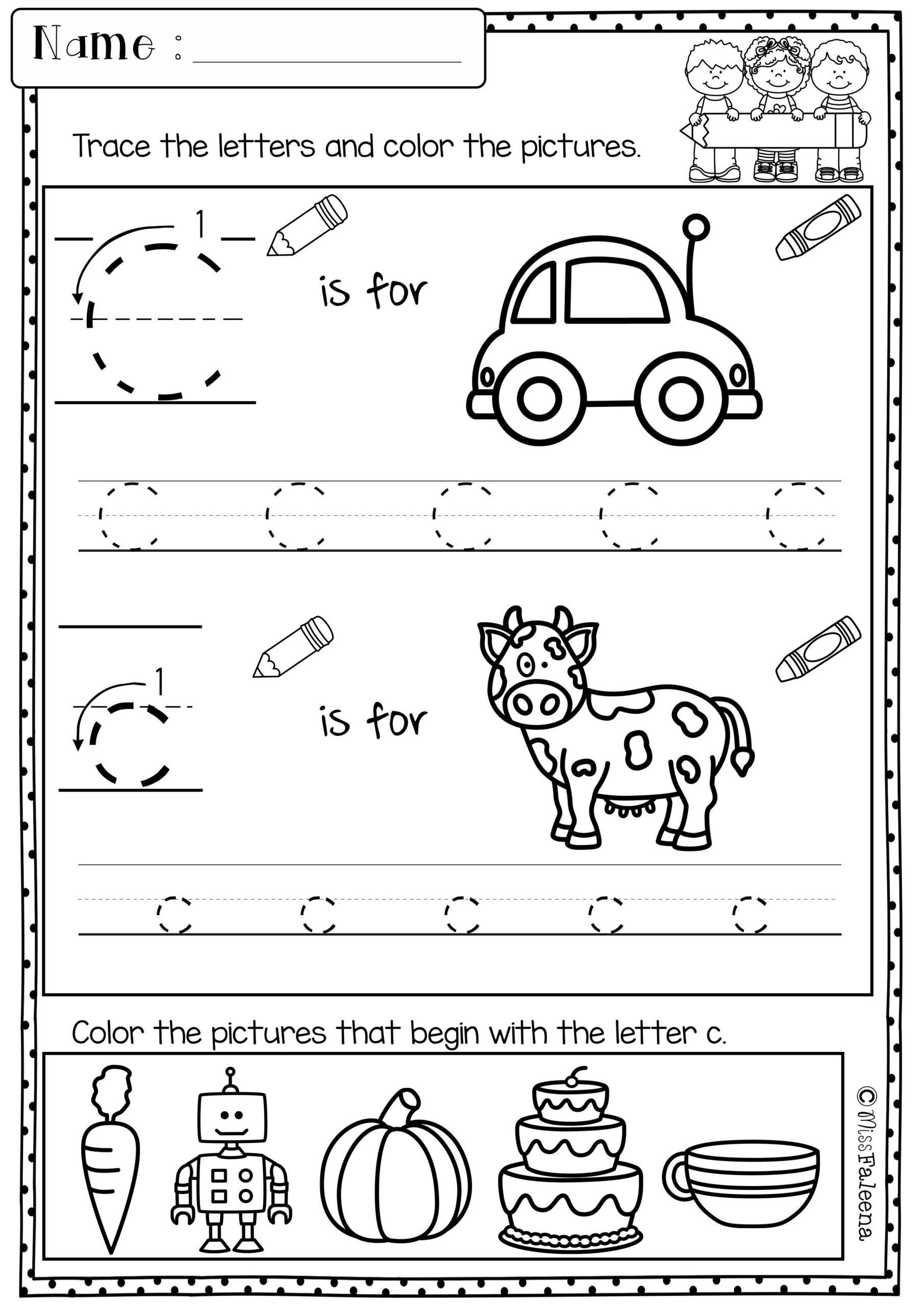 Letter C Worksheets For Grade 1