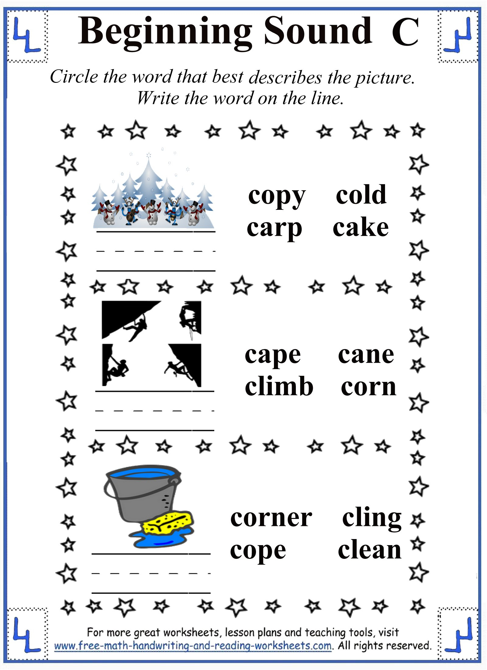 Letter C Worksheets For Grade 1