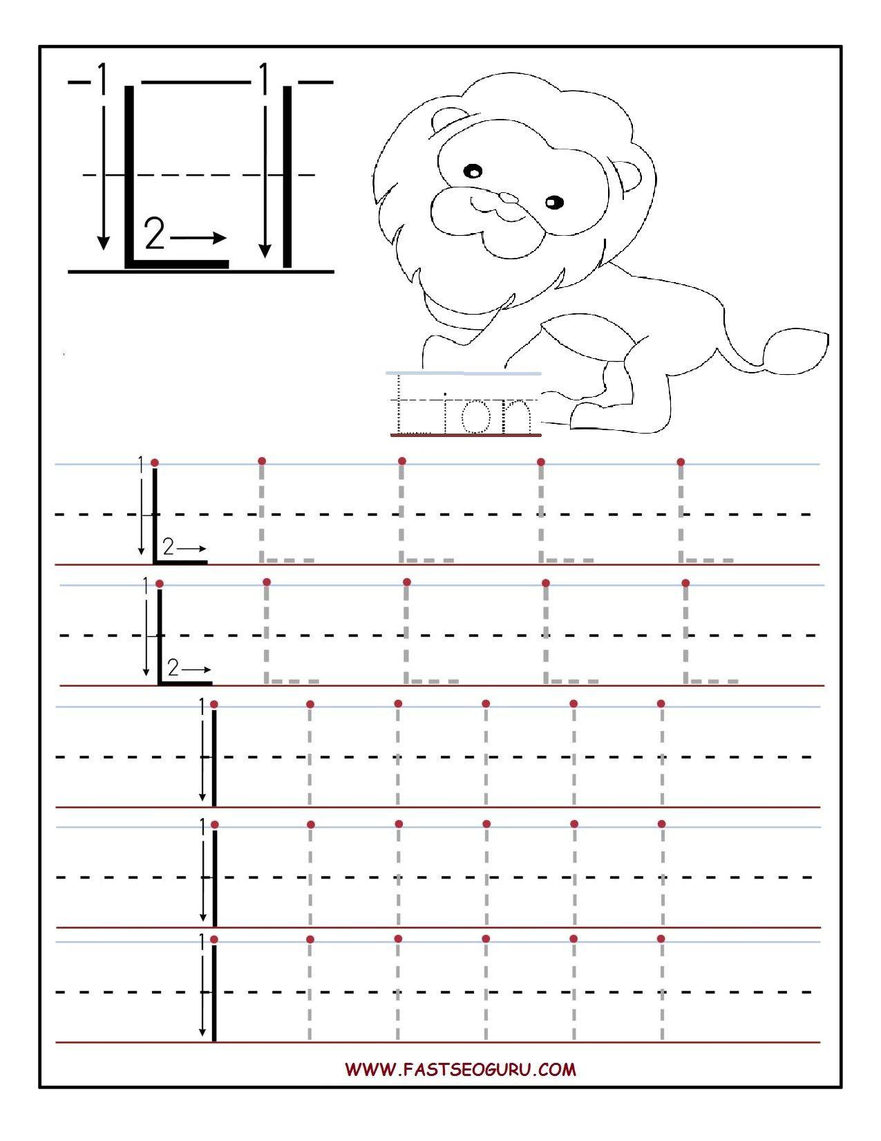 Alphabet L Worksheets