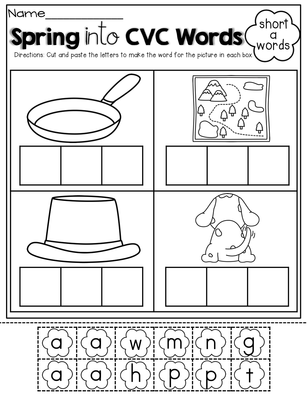 Letter C Worksheets Cut And Paste