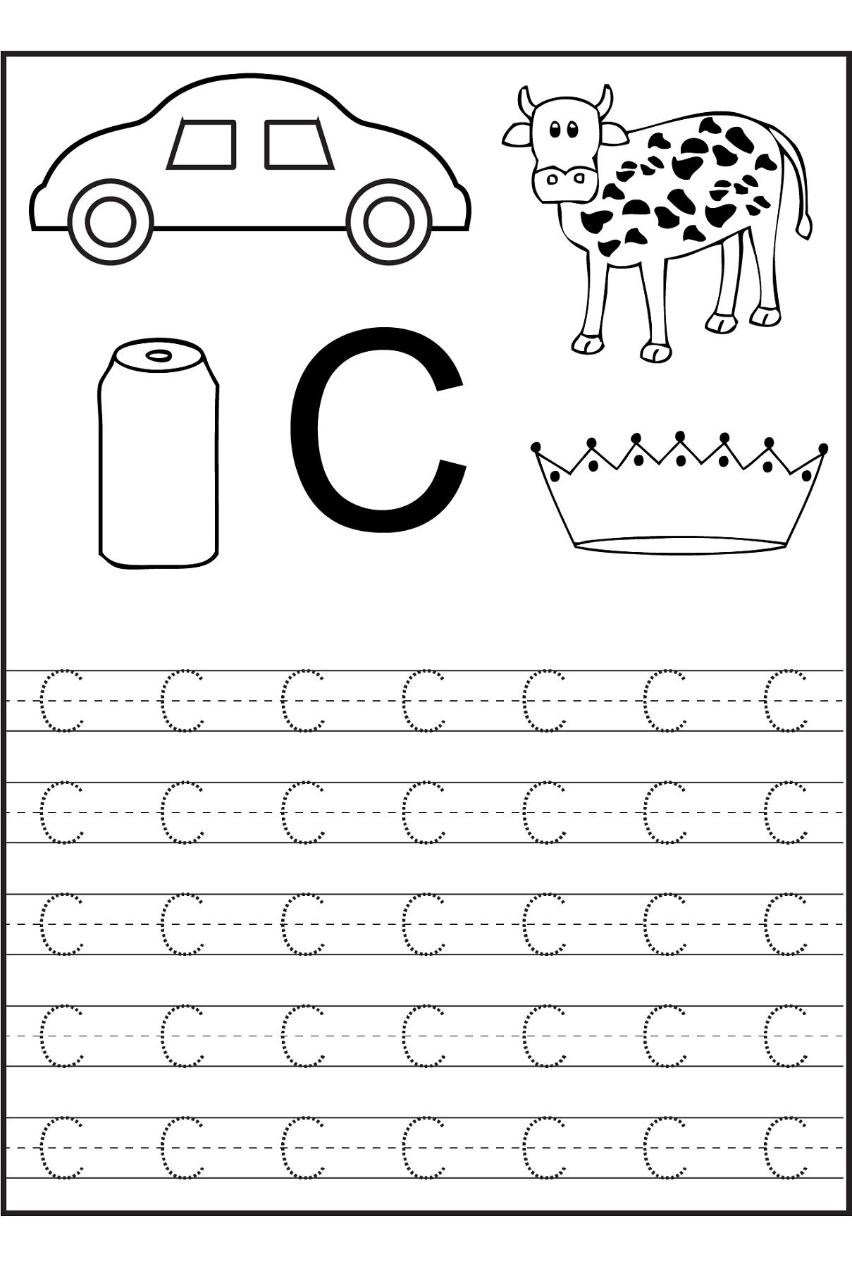 Letter C Worksheets For First Grade