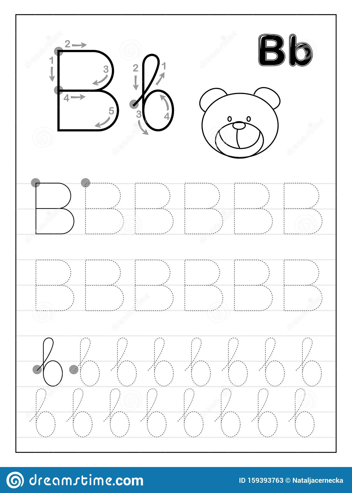 Letter B Worksheets For Kindergarten
