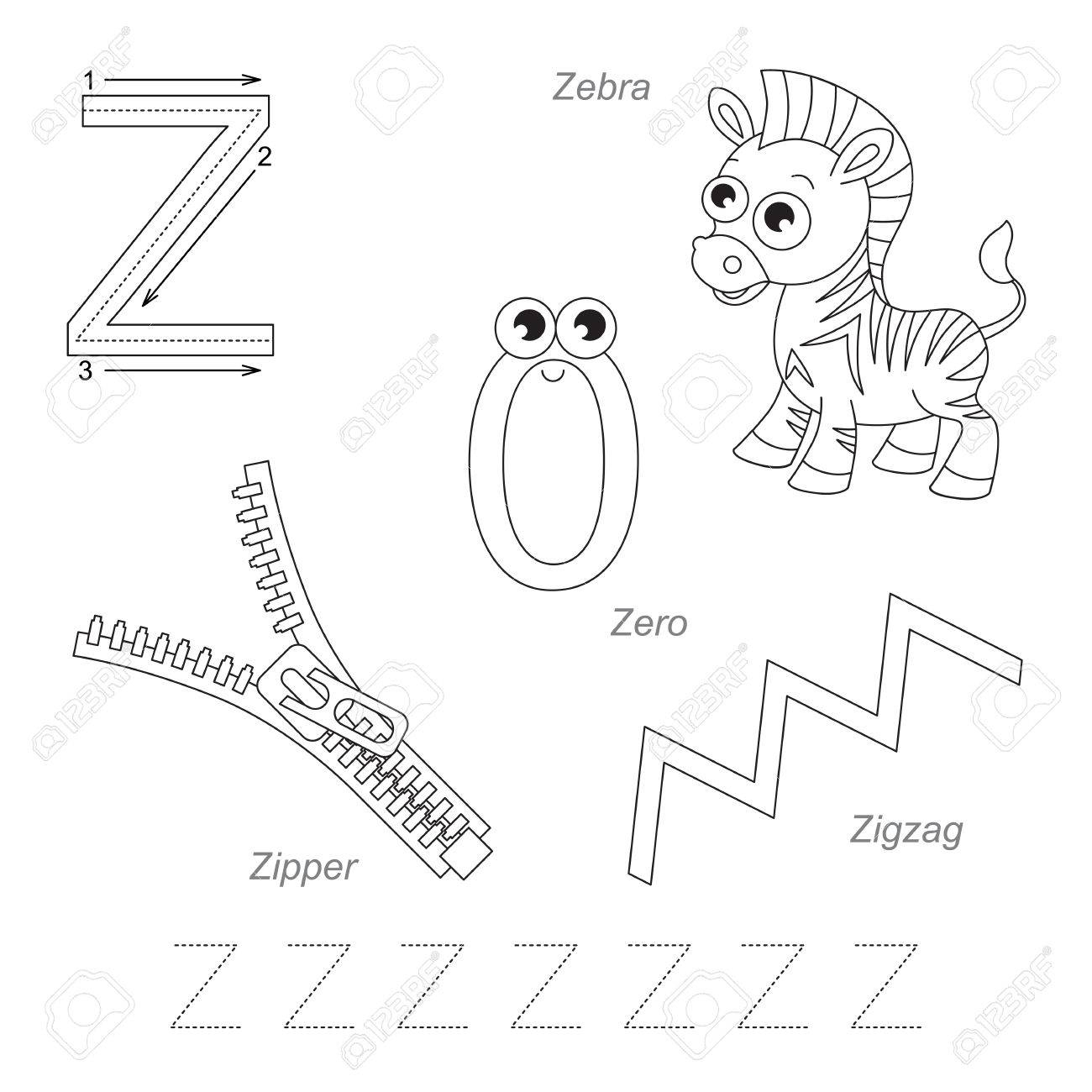 Letter Z Tracing Page