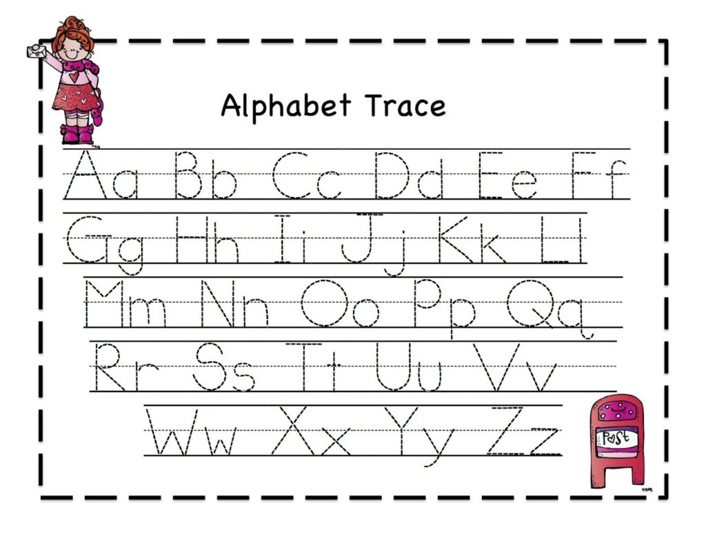 Pre K Alphabet Tracing Worksheets
