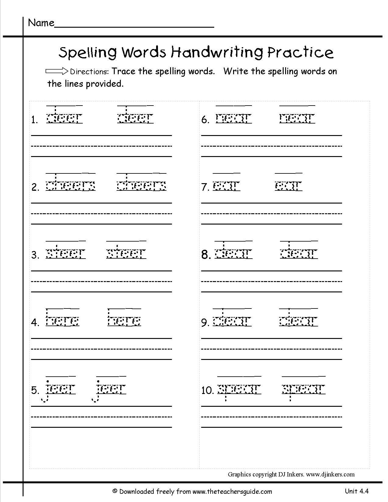 Tracing Sentences Worksheets