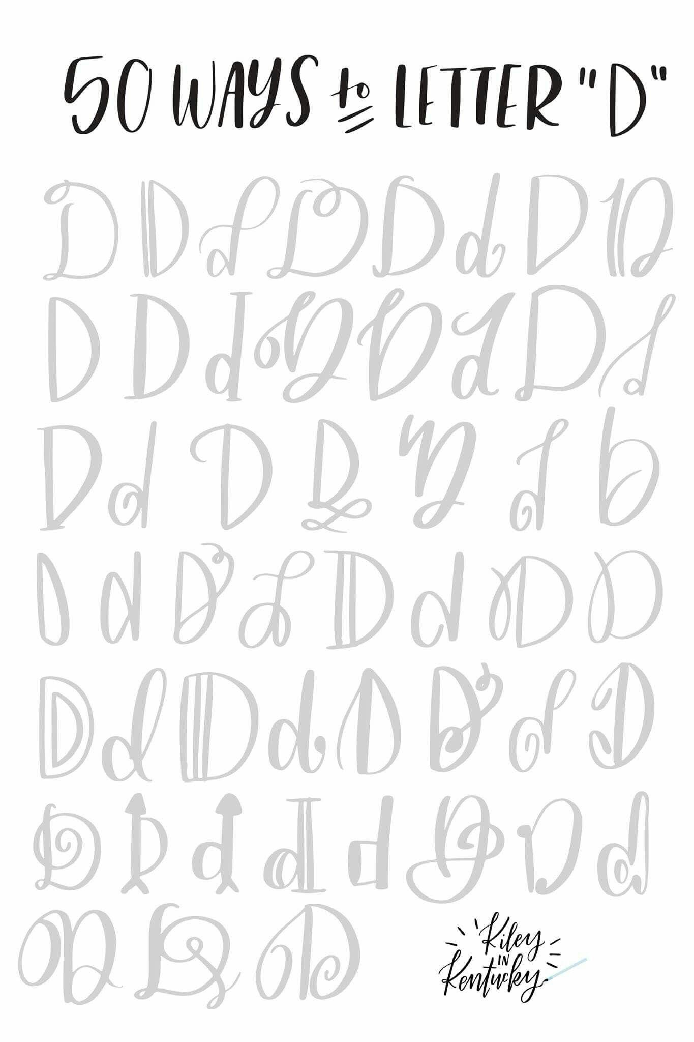 Cursive Alphabet D