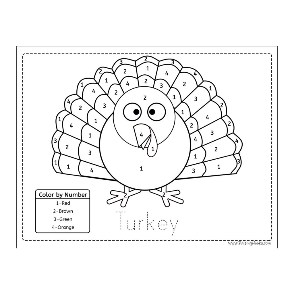 Turkey Tracing Worksheet