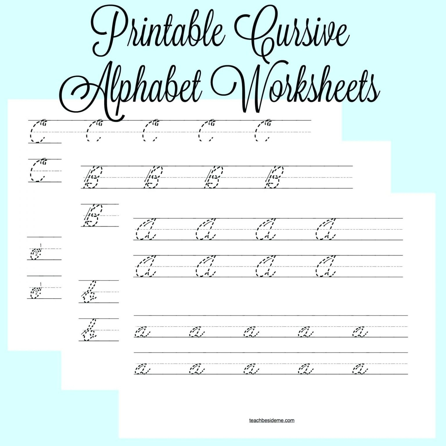 Cursive Alphabet Exercises