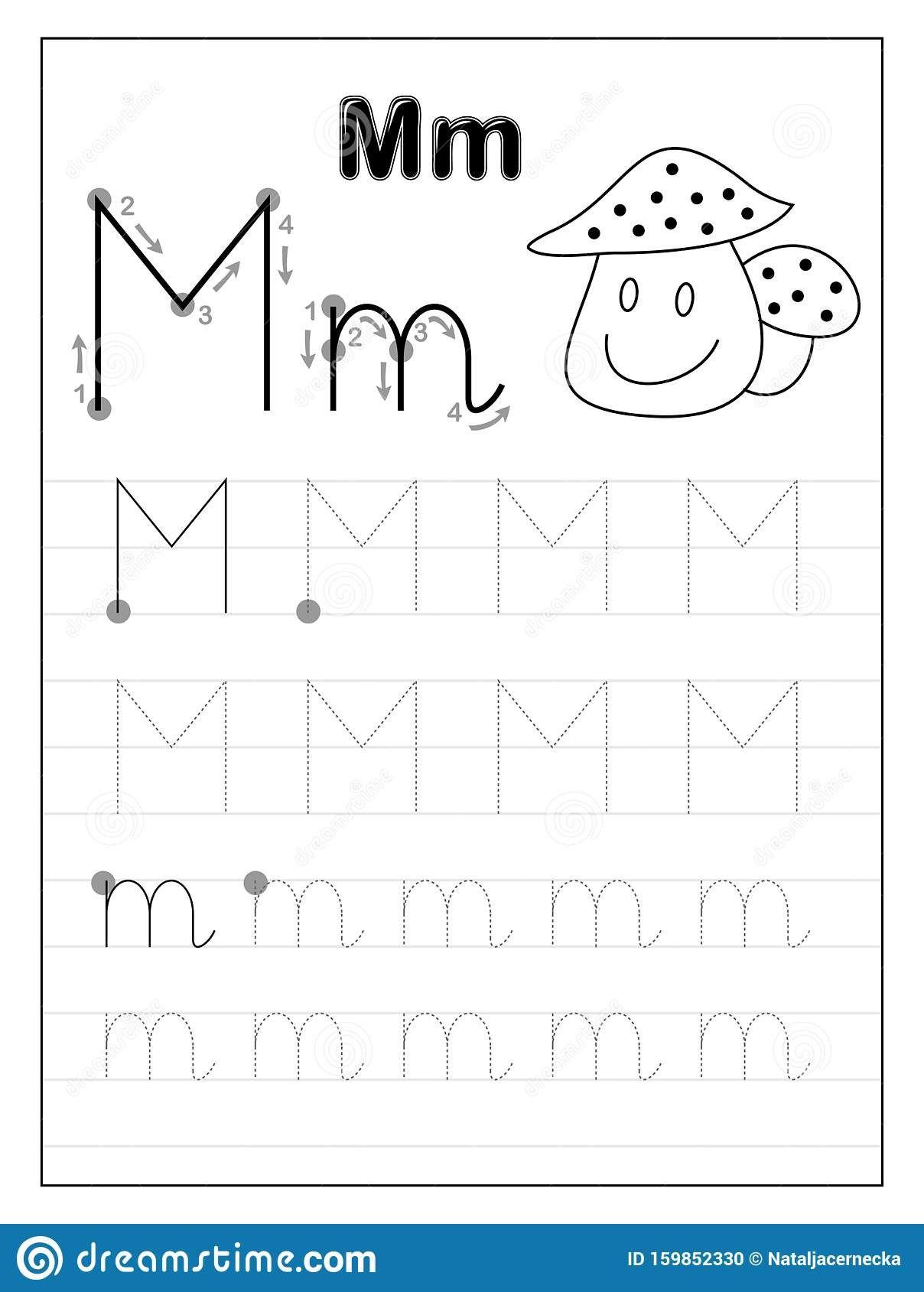 Tracing Letter M Worksheets Kindergarten