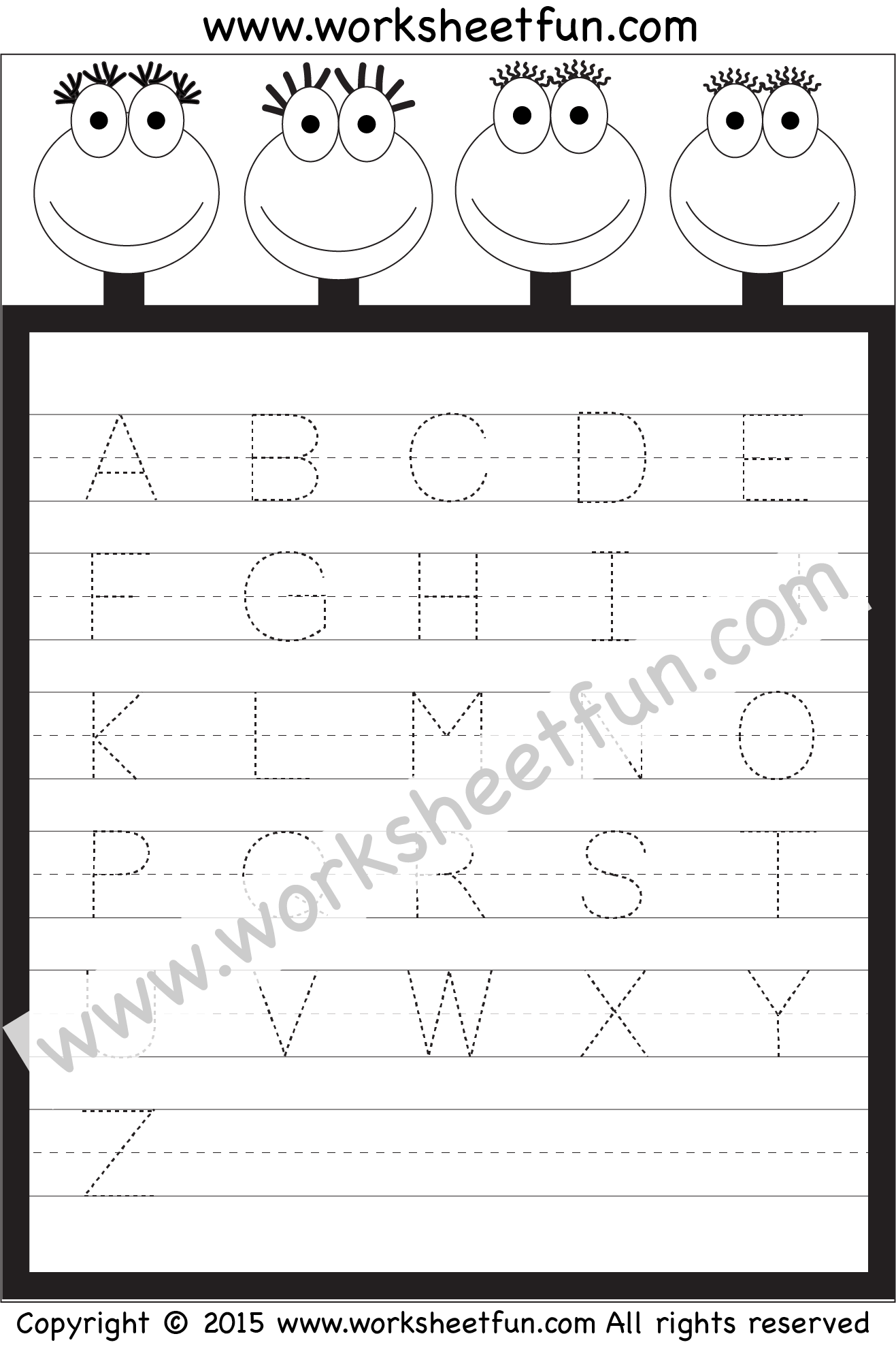 Free Printable Letter Tracing Worksheets