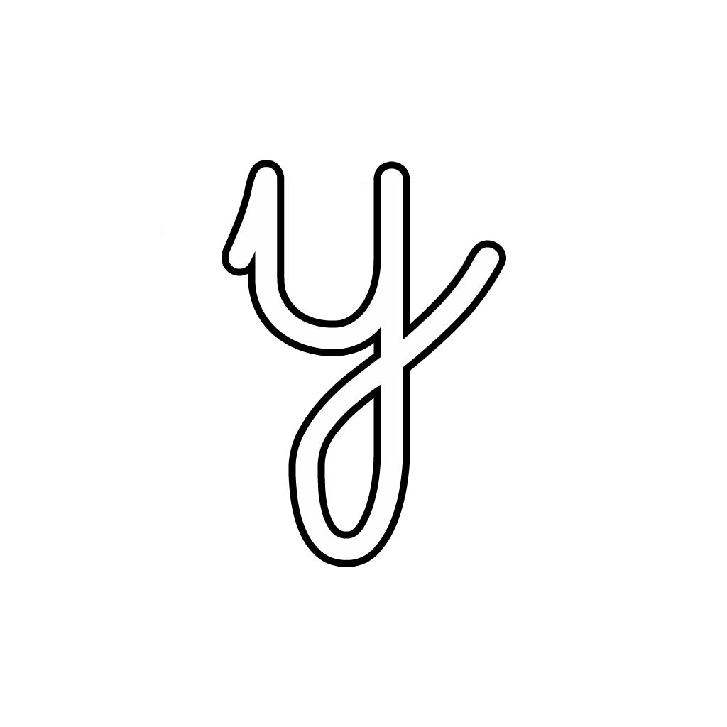 Y Cursive Letter