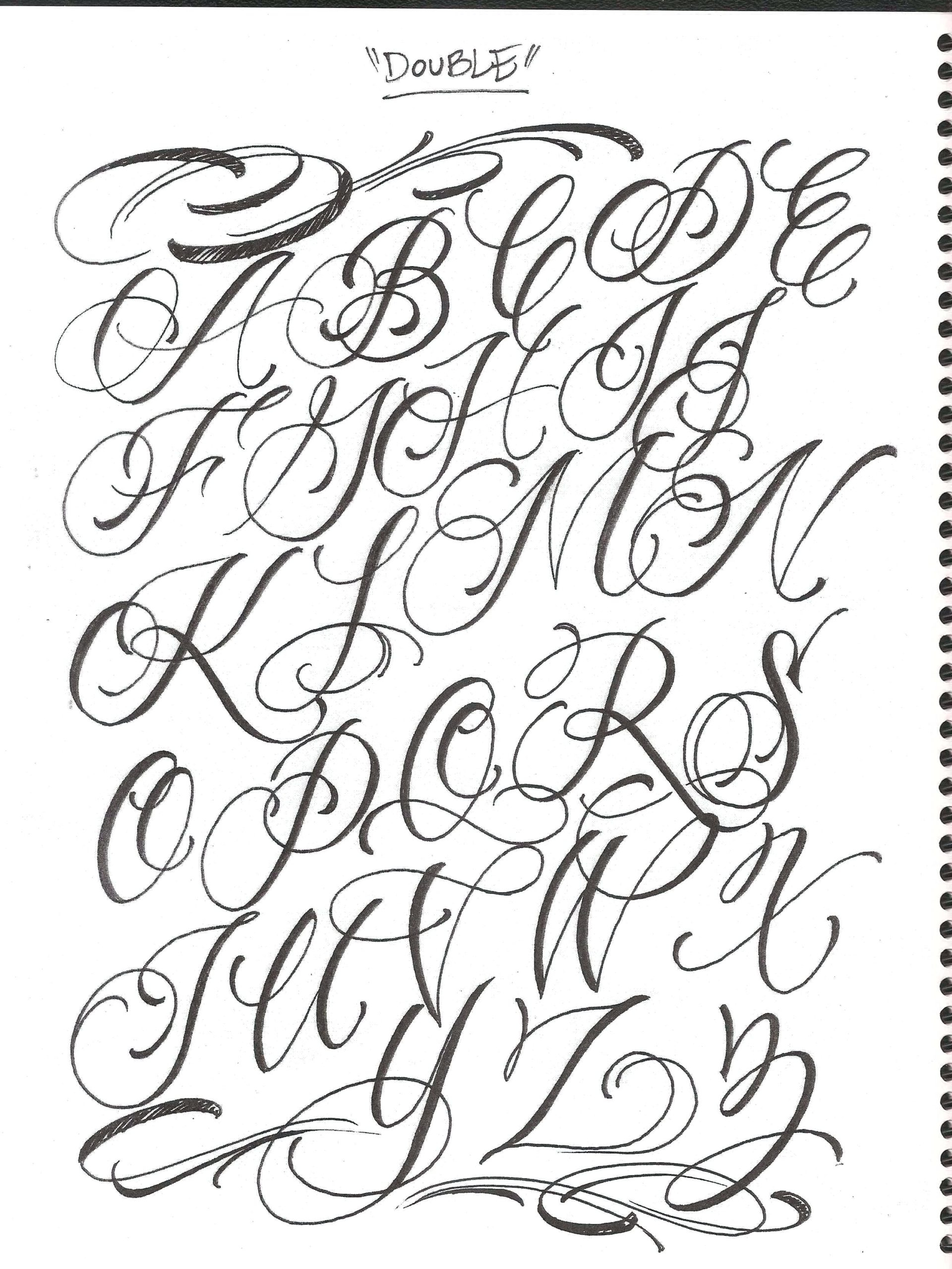 Cursive Alphabet Reference Sheet