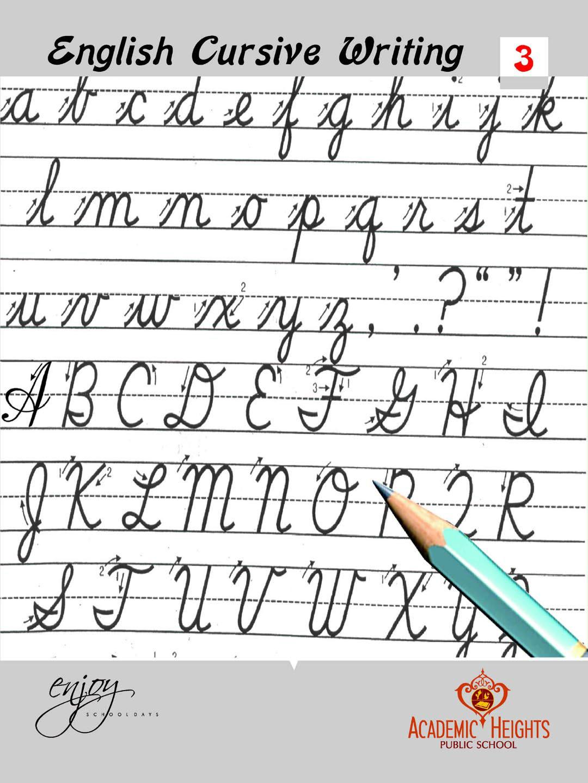 Cursive Alphabet In English