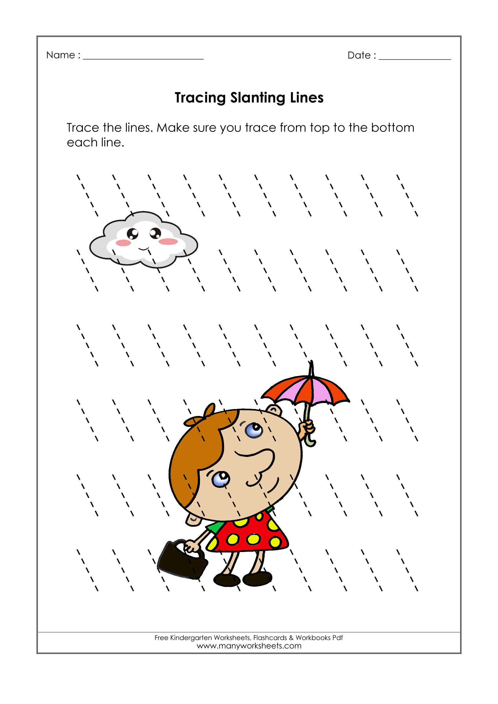 Tracing Lines Worksheets Free