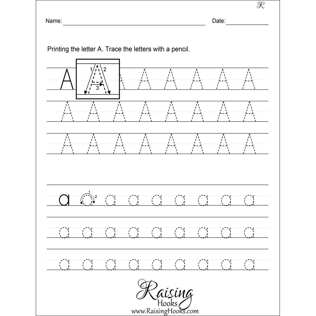 Alphabet Worksheets A Z Printable