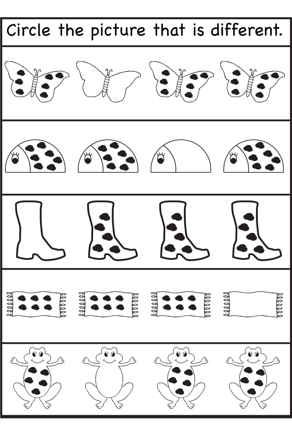Tracing Body Parts Worksheets