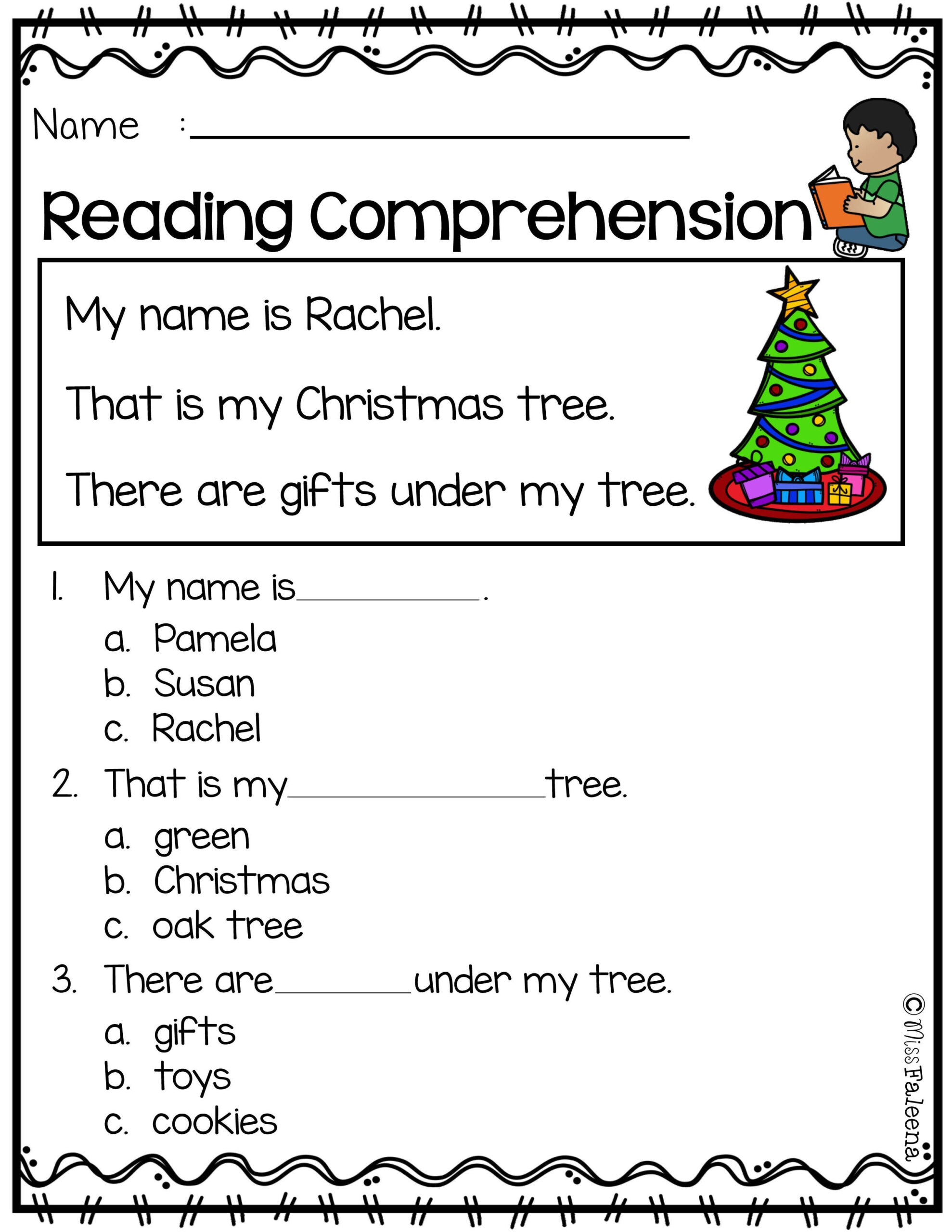 1st Grade Christmas Language Arts Worksheets