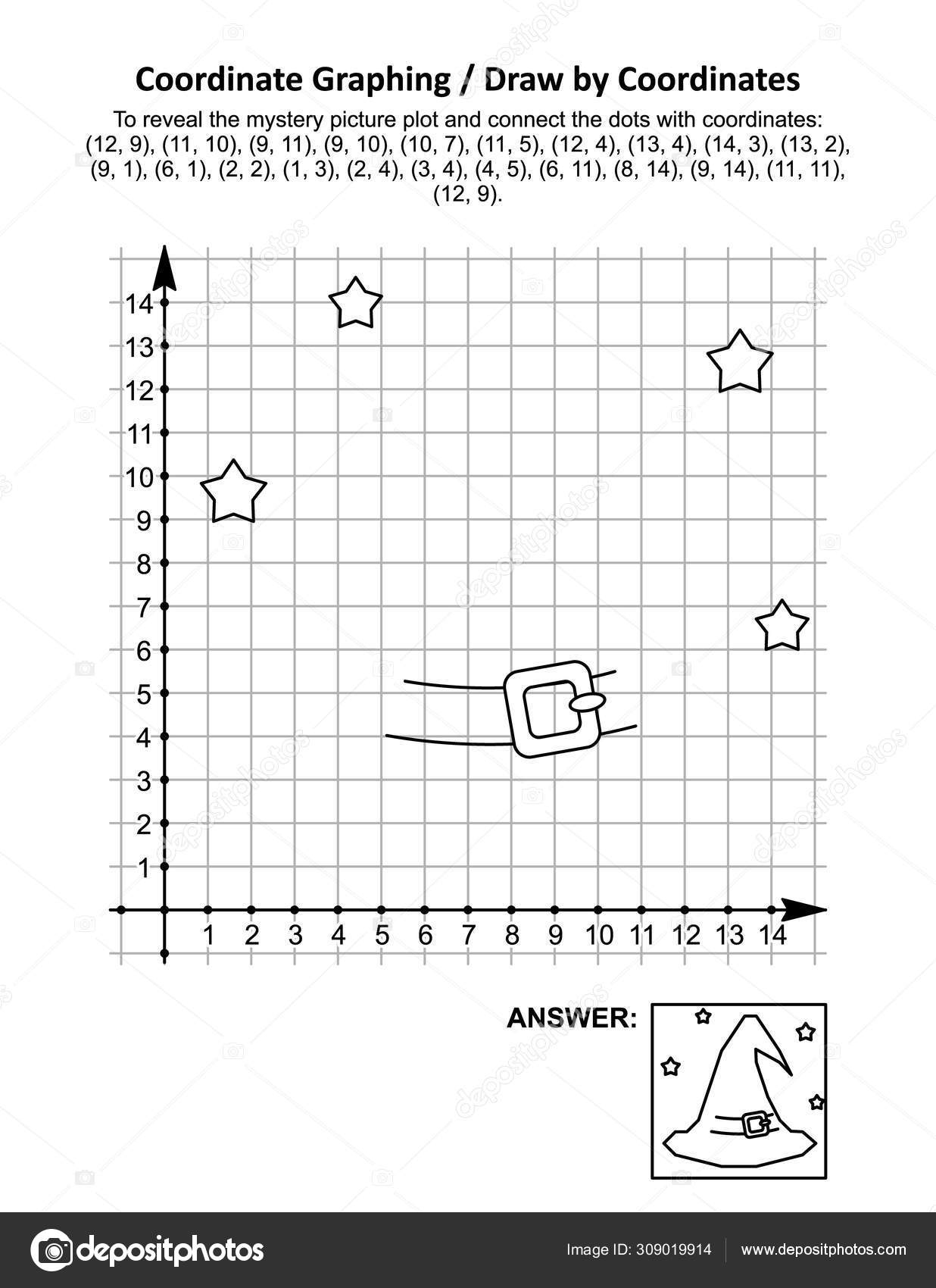 Coordinate Graphing Picture Worksheets Halloween
