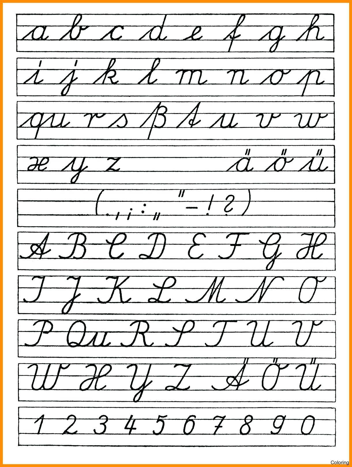 Cursive Alphabet Free Printable