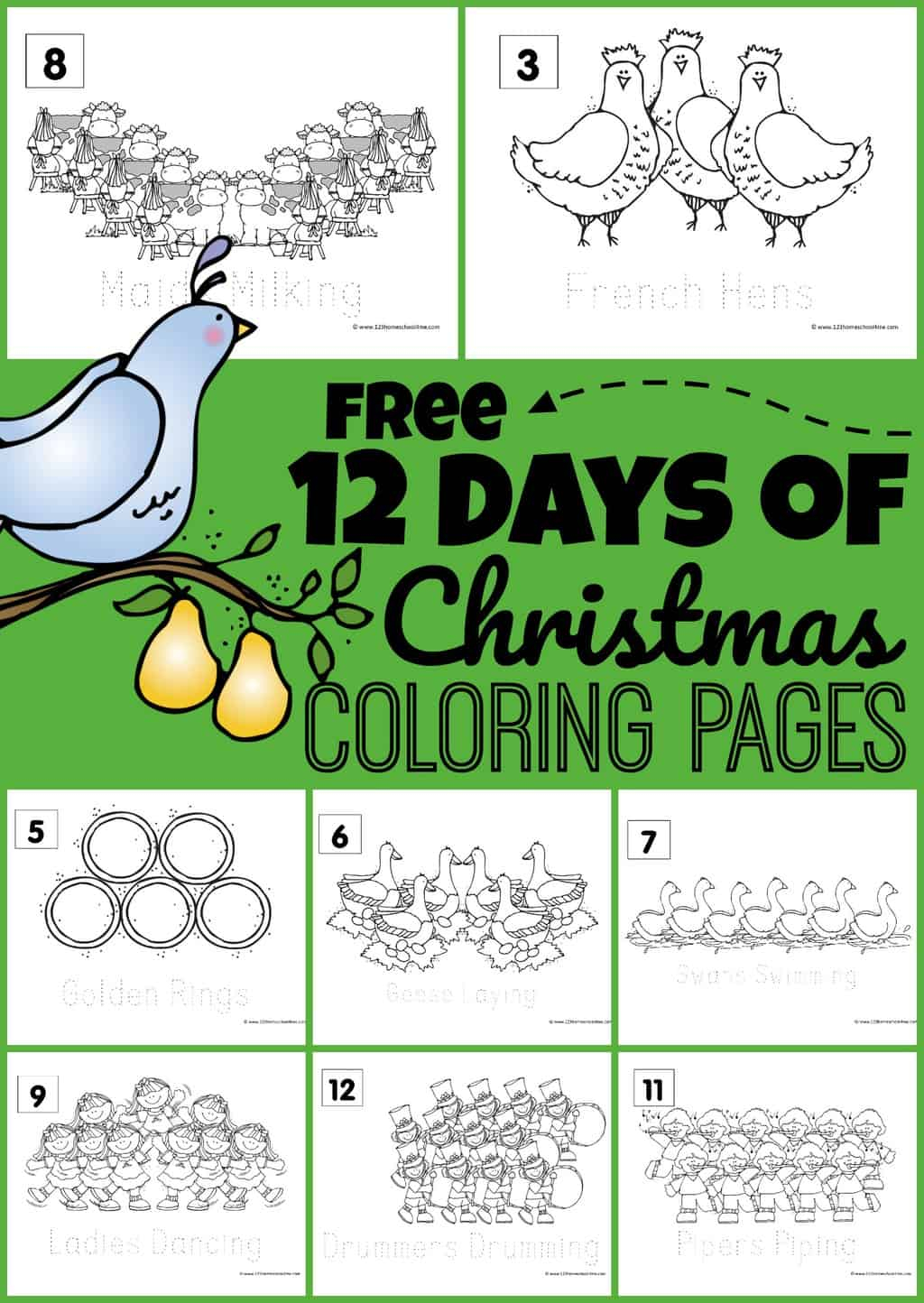 12 Days Of Christmas Cost Worksheet