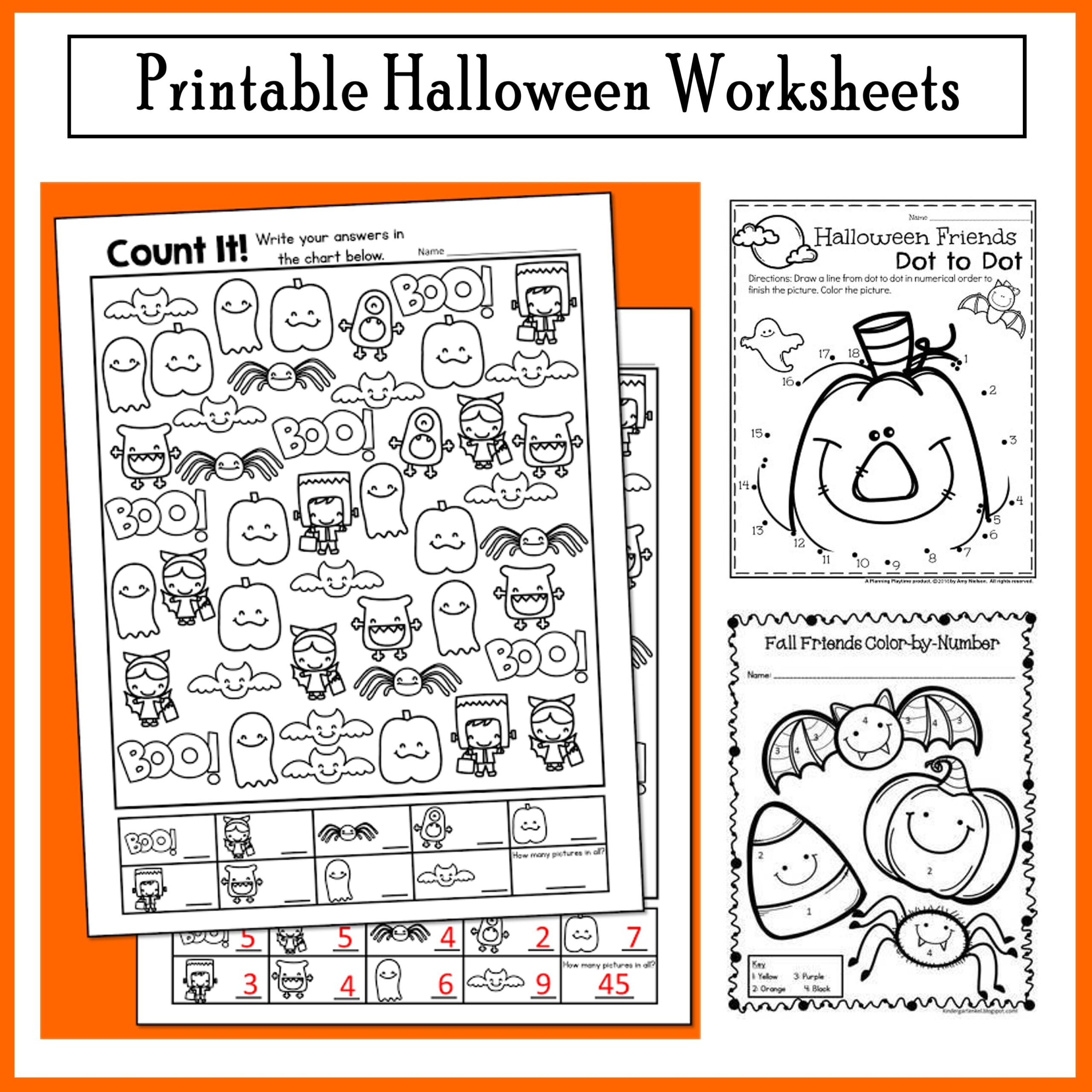 Halloween Worksheet That Are Suitable For 4th Grade