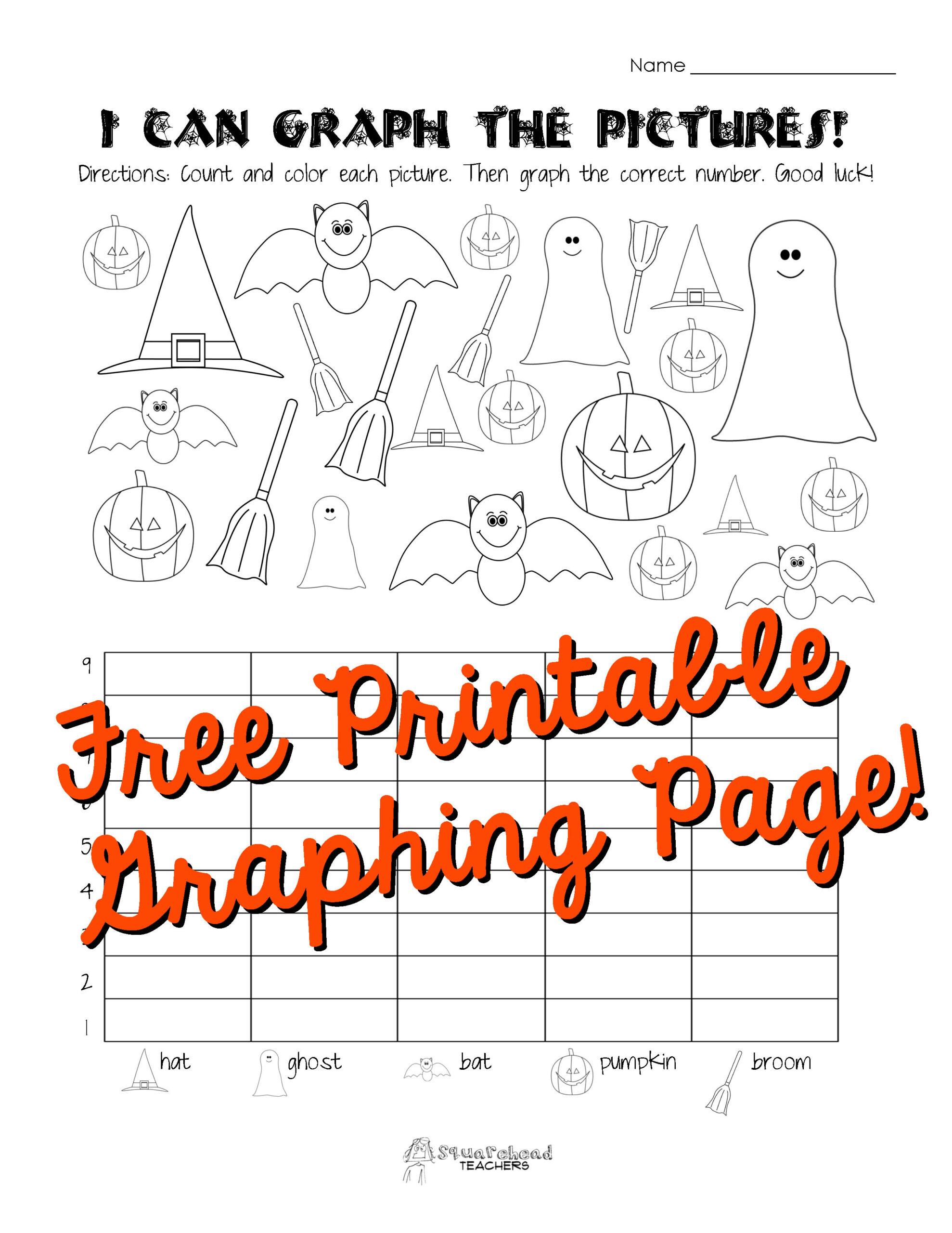 Halloween Graphing Lines Worksheet
