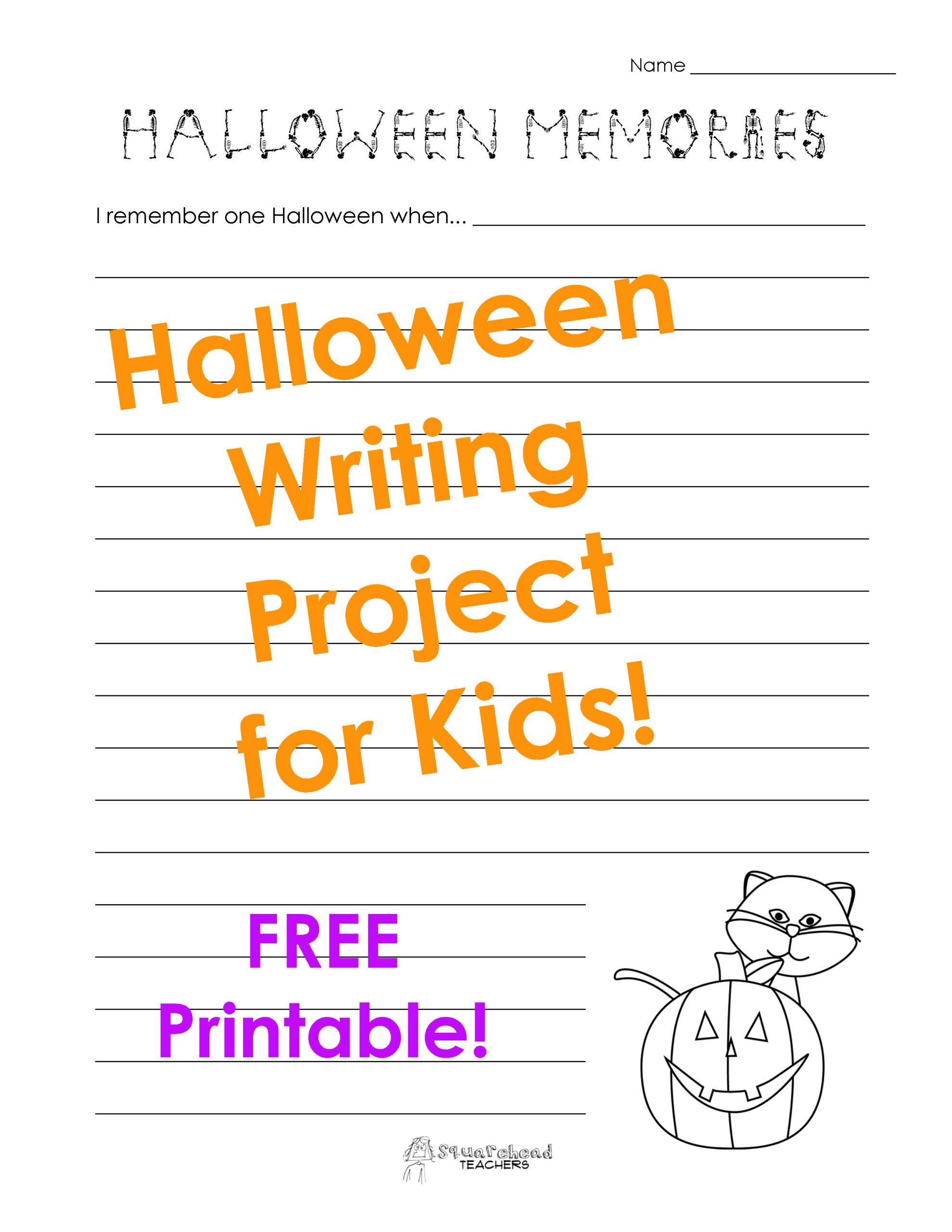 Halloween Language Arts Worksheets For Middle School