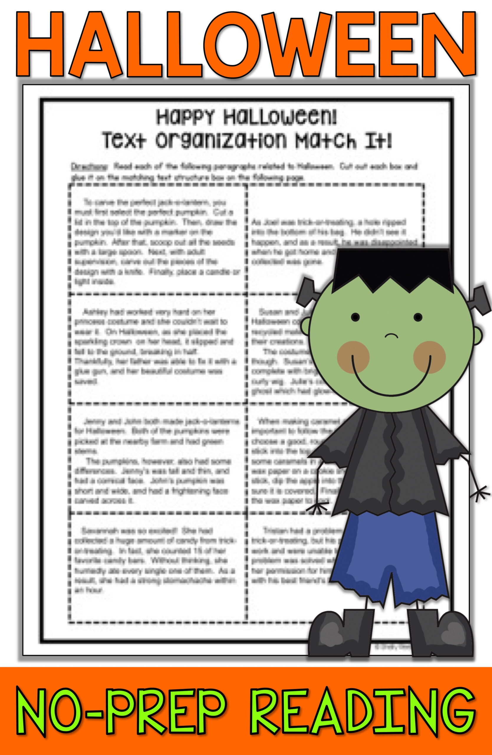 Halloween Reading Worksheets For 5th Grade