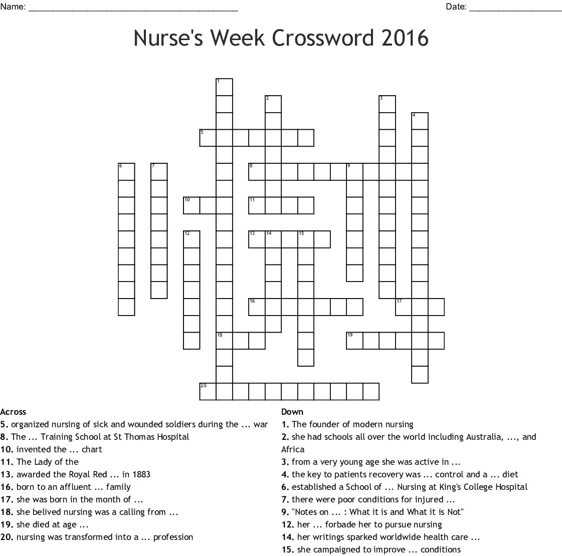 Halloween Crossword Puzzle Worksheet Answers Word Hobbyist