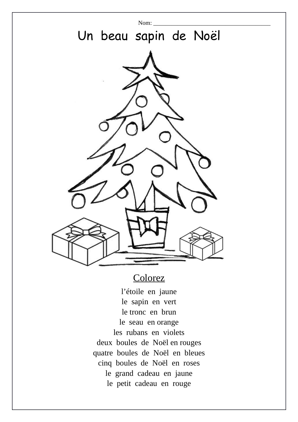 French Christmas Activities Worksheets