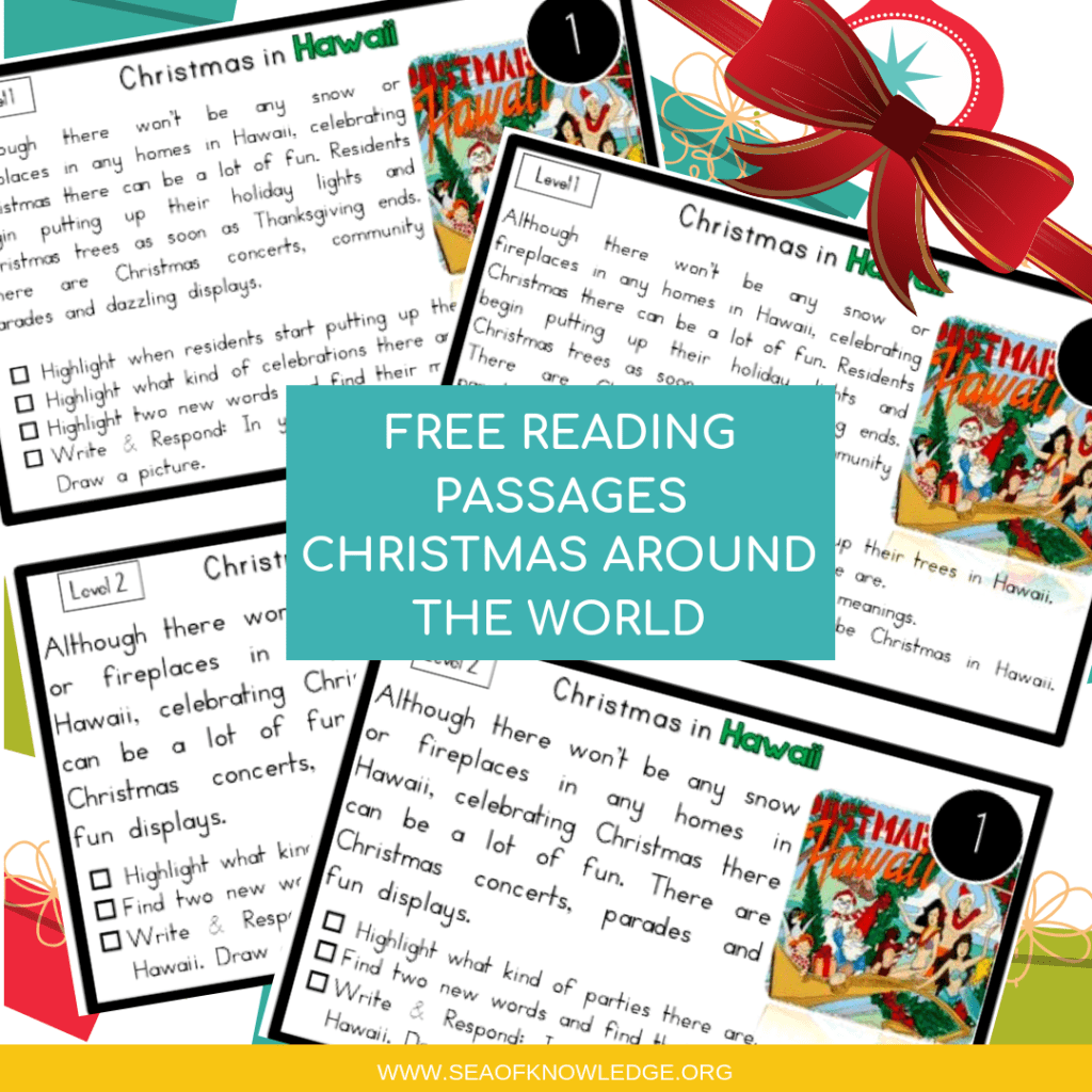 Christmas Traditions Reading Comprehension Worksheets
