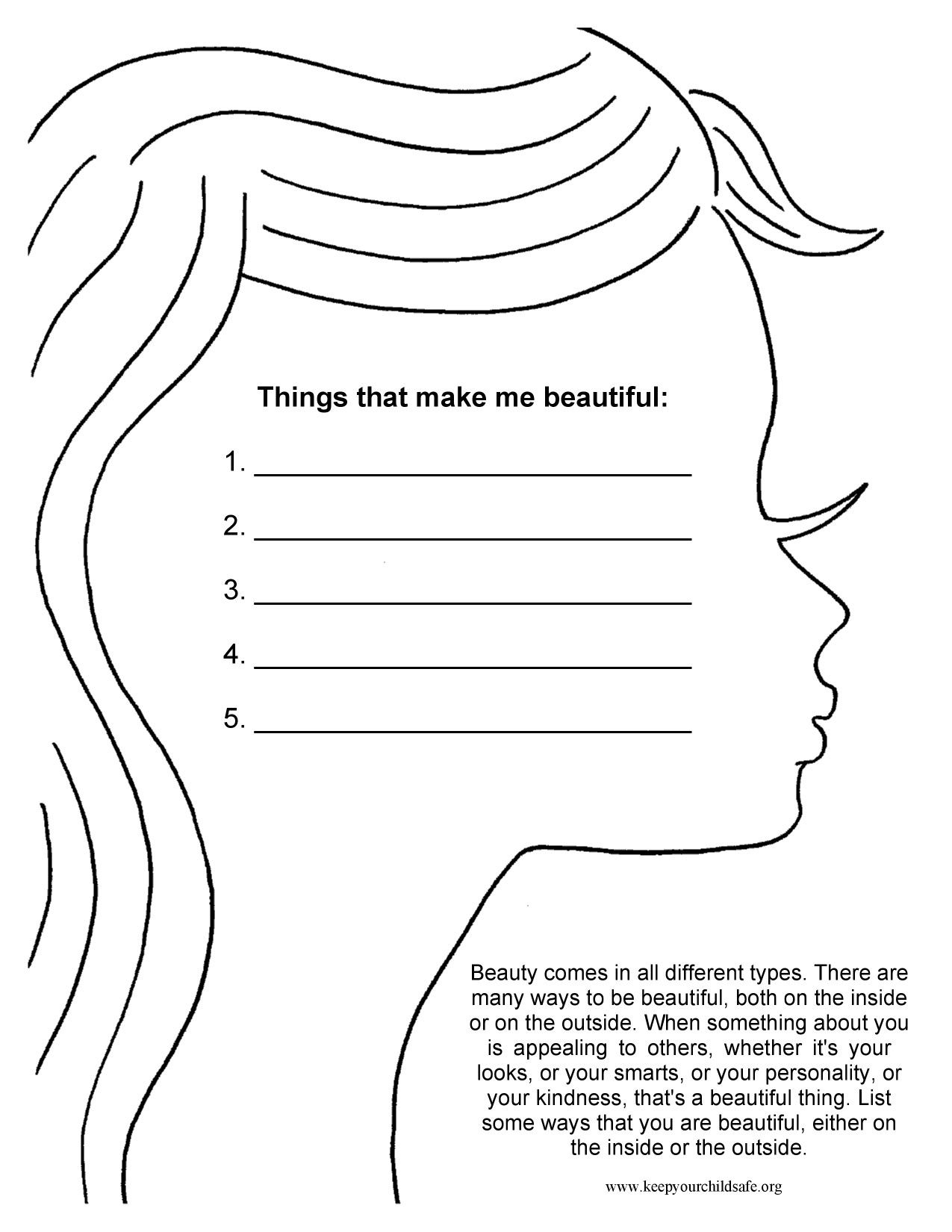 Therapy Worksheets For Low Self Esteem
