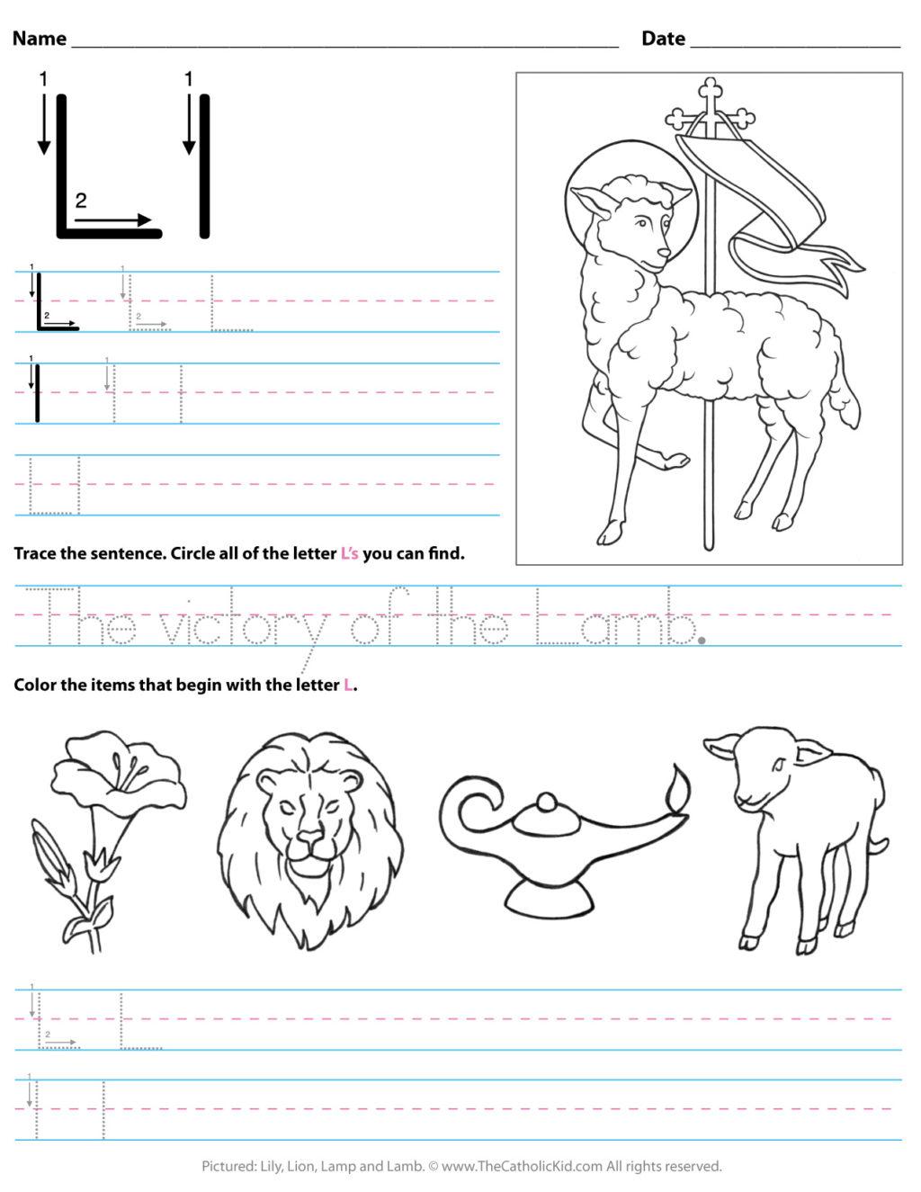 Letter L Worksheets For Kindergarten