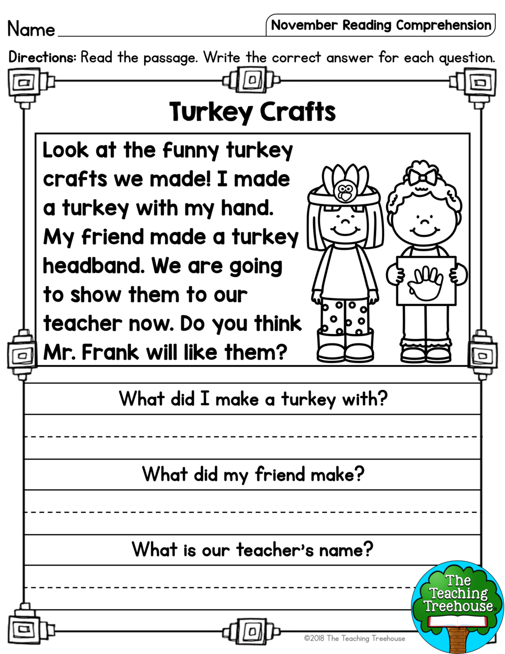 Christmas 1st Grade Reading Worksheets