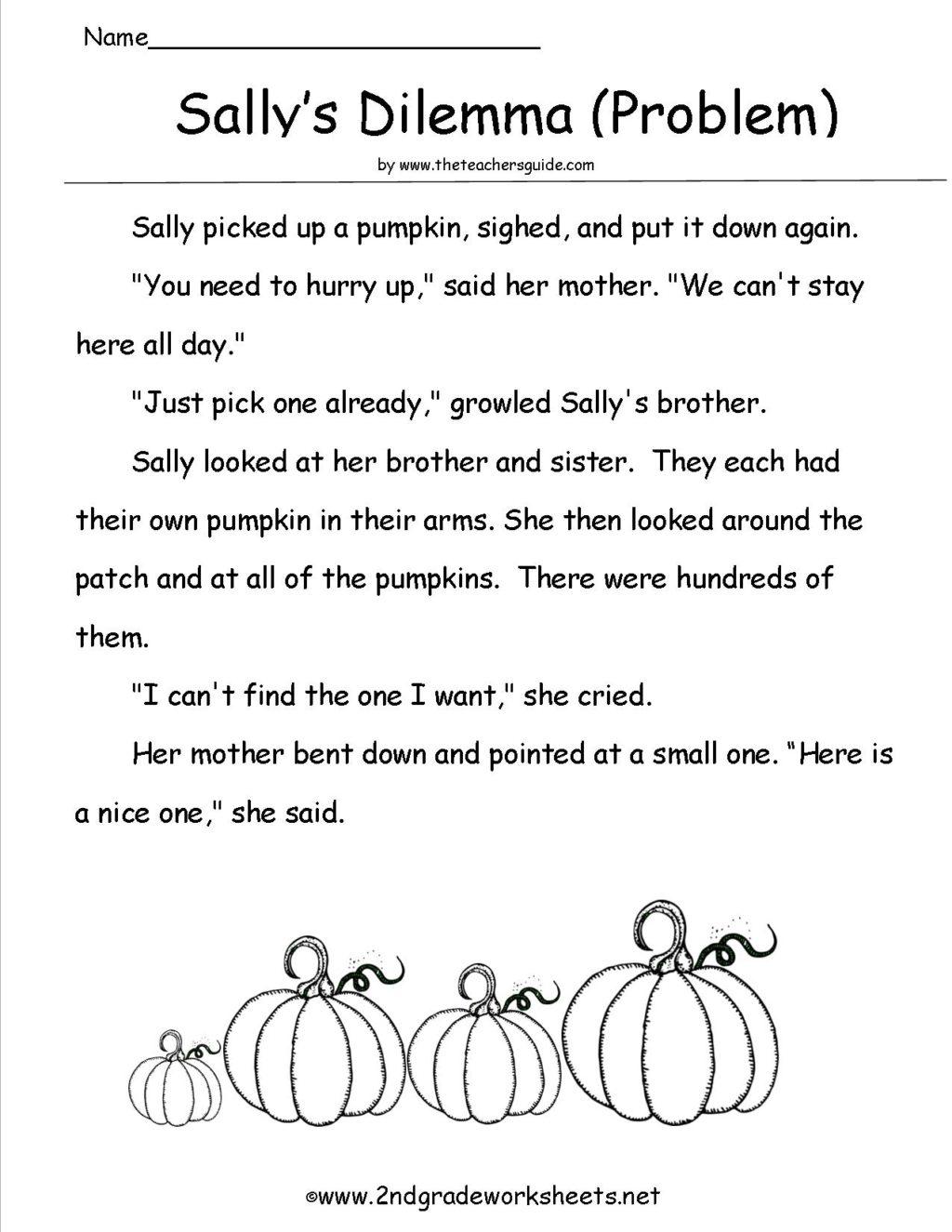 Halloween Comprehension Worksheets 2nd Grade