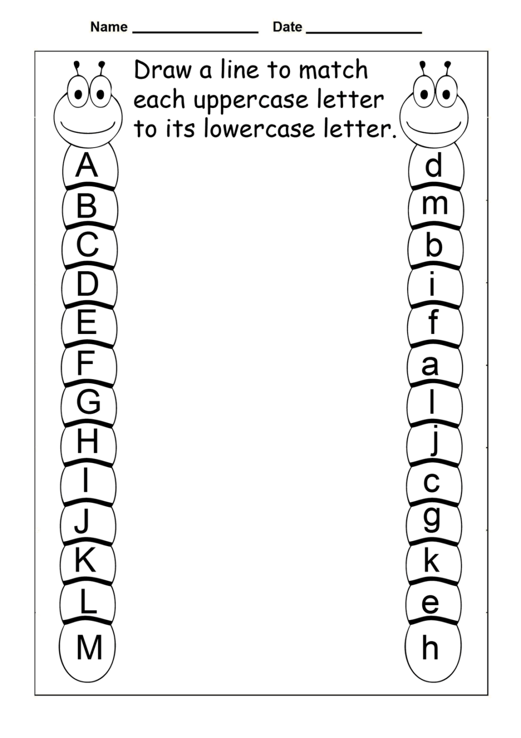 Alphabet Review Worksheets For Kindergarten