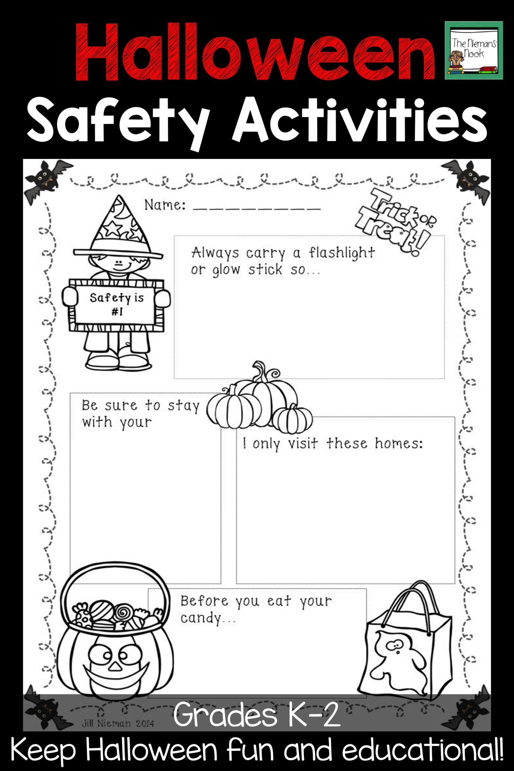Halloween Safety Worksheets Kindergarten