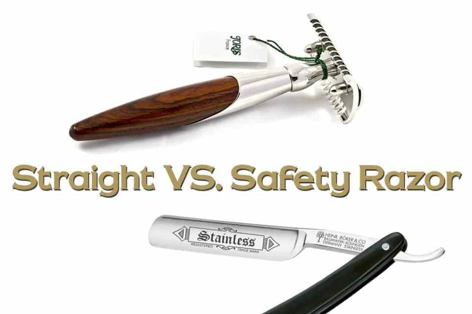 pros and cons of safety and straight blades
