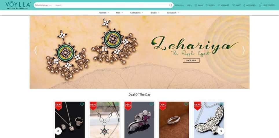 Voylla Online Jewelry Store