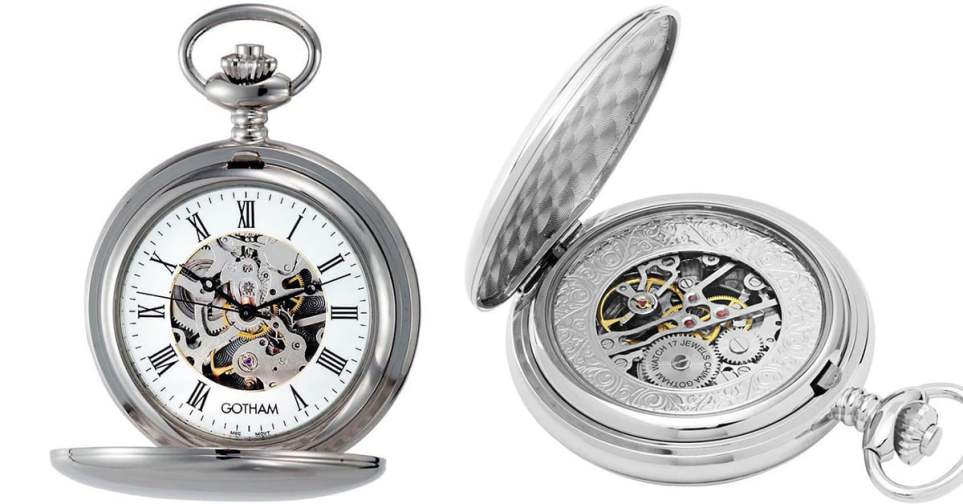 Gotham GWC14050S Pocket Watch for Men