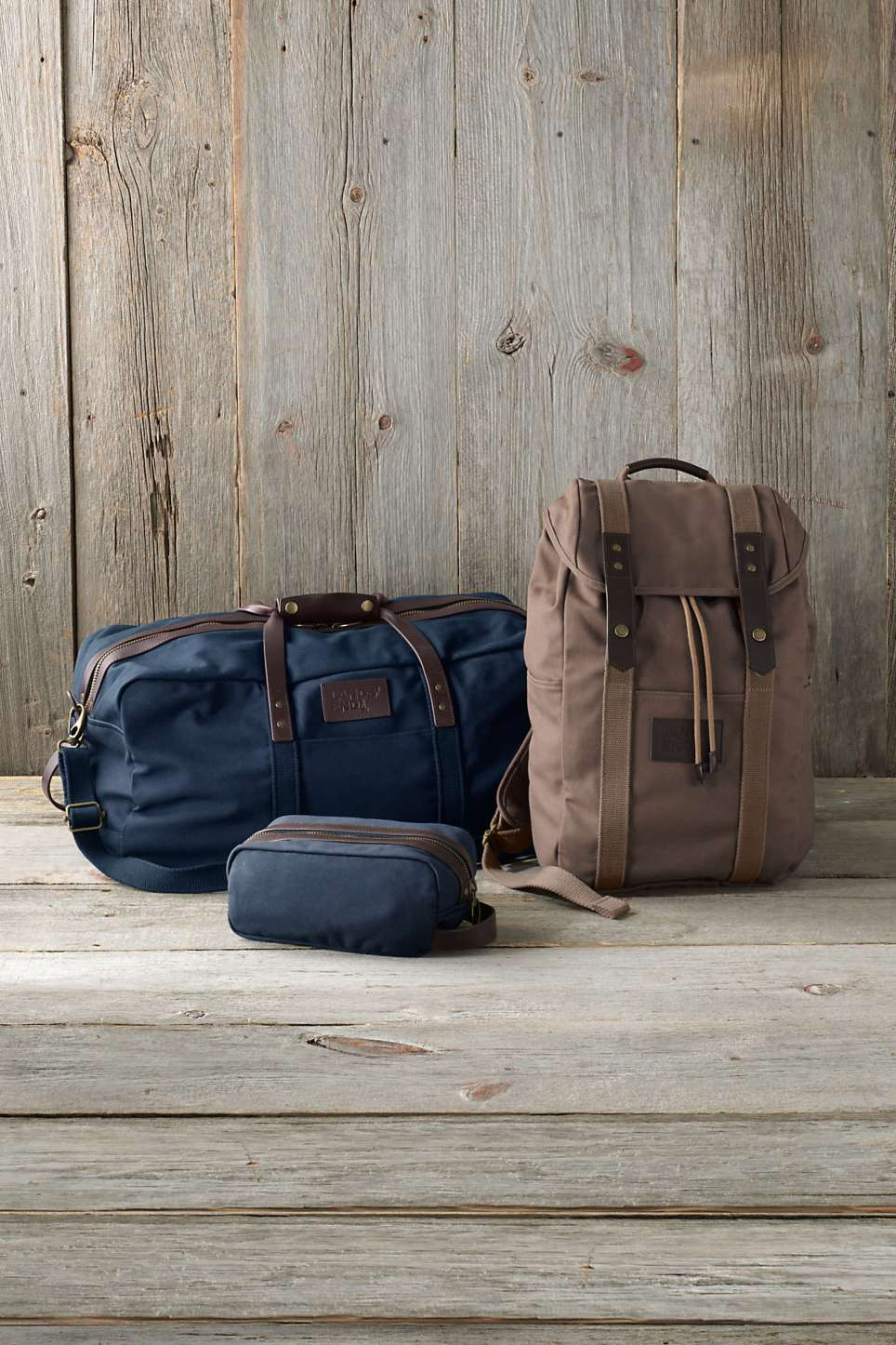 Land's End Waxed Canvas Travel Duffle Bag