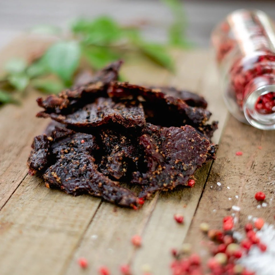 Blue Ox Cracked Pepper Smoked Beef Jerky