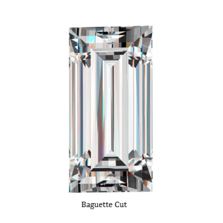 Man-made diamond_Baguette stright cut 6435