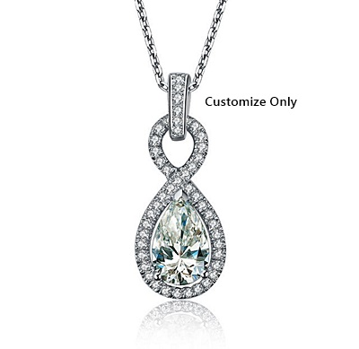 Man-made diamond_pearcut_pendant31