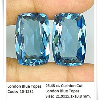 GemRock-Wellness_26.48ct London Blue Topaz Cushion cut